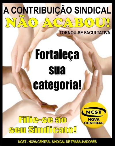 NCST inicia campanha nacional pela contribuição sindical