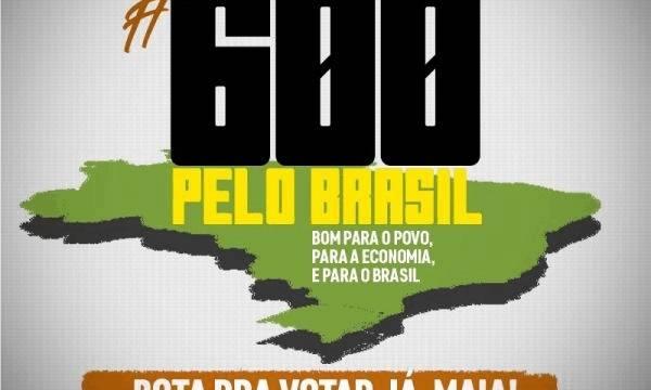 Centrais Sindicais intensificam a Campanha #600peloBrasil